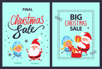 Christmas Final Sale Holiday Discount Santa Maiden
