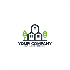 Letter H and M Real Estate icon, Construction logo icon, Real estate logo template