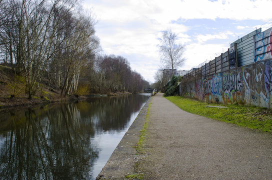 walking the tow path of the Birmingham canal