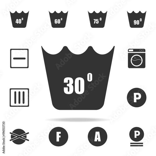 Machine Wash At 30 Degrees Icon Detailed Set Of Laundry Icons