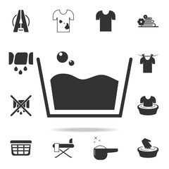sign of a small soapy wash icon. Detailed set of laundry icons. Premium quality graphic design. One of the collection icons for websites, web design, mobile app