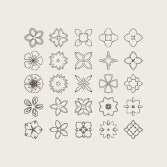 Mandala. Ethnic decorative elements, round ornament. Vector illustration