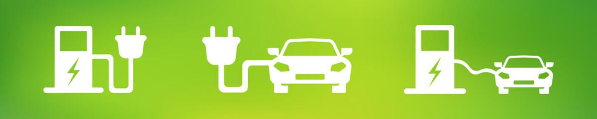 Elektroauto Symbole - Set