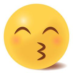 Emoji Kussmund - 3D