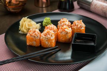 Prawn sushi roll