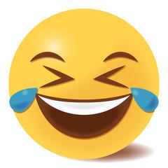Emoji Tränen lachend - 3D