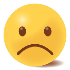 unglückliches Emoticon - 3D
