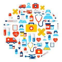 Medical Icons Background