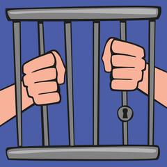 prison - concept - prisonnier - liberté - emprisonner - cage - emprisonné - incarcérer - incarcération - justice - crime