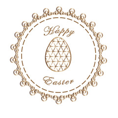 Easter happy, easter greeting card, easter eggs.Egg in the style of low poly.