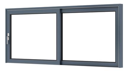 metallic window isolated on white background