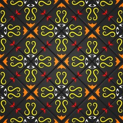 3D rendering seamless mosaic - The multicolored ornaments