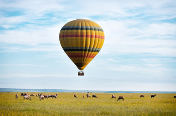 Hot air balloon over the Masai Mara - Kenya