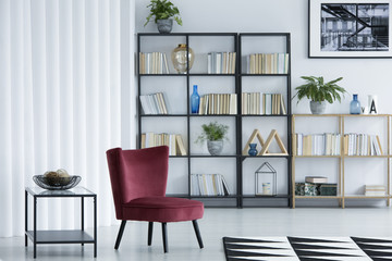 Library living room interior