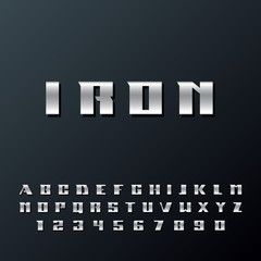 Modern strong alphabet lettering. Futuristic trendy typeface. Vector font. Great font for headlines, labels, quotes, titles, posters or logotypes. Capital letters and numbers.