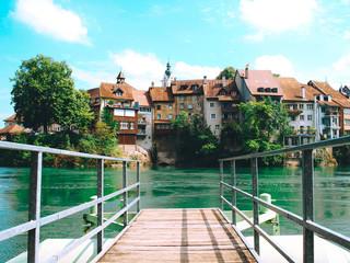 The city Laufenburg am Rhein, Germany.