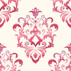 Watercolor seamless wallpapers in the style of Baroque . Can be used for backgrounds and page fill web design, Illustration