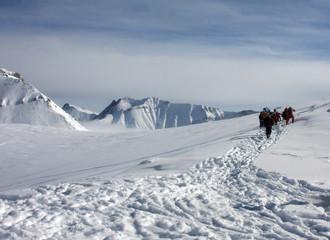 Ski resort Gudauri in Georgia Caucasus mountains