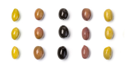 The  olives  isolated
