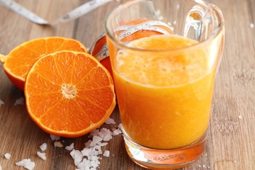 Healthy with orange smoothie