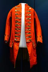 A historic British red coat military uniform