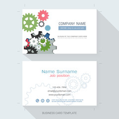 Abstract name card or business card design template,The style is simple, also modern and elegant and it can be suitable for company name, It's fully layered and editable.