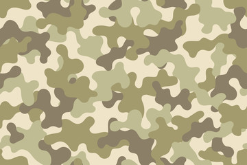 Woodland camouflage. Trendy style camo, repeat print. Vector illustration.