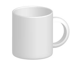 Mug on white background