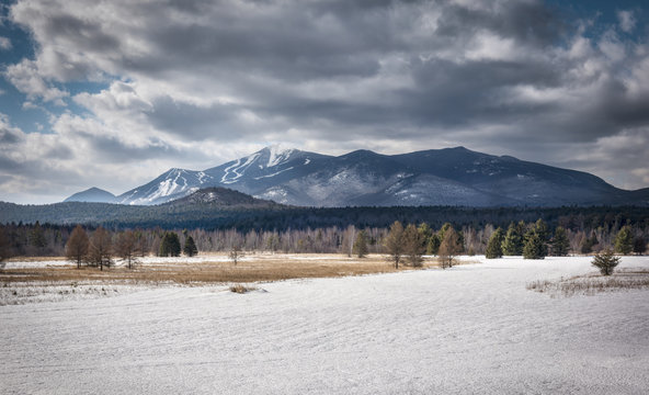 View of Whiteface Mountain in the Winter