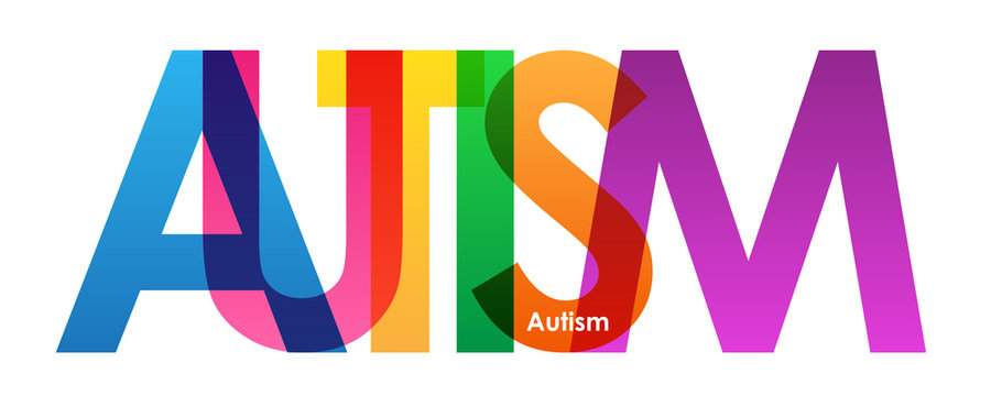 AUTISM vector letters icon