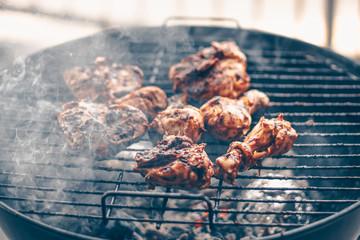 Grilled chicken on Braai