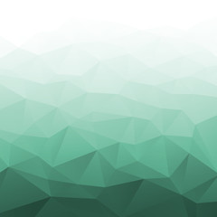 Abstract Gradient Green Geometric Background. Vector illustration.