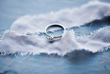 Wedding ring. Wedding symbols, attributes. Holiday, celebration.