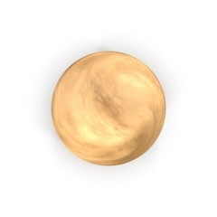 Venus Planet on white. 3D illustration