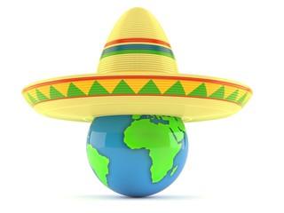 Sombrero with globe
