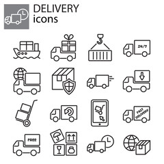 Web icons set - Delivery, Shipping services