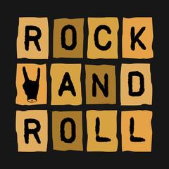 Rock Roll Inscription