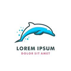 JUMPING DOLPHIN LOGO TEMPLATE