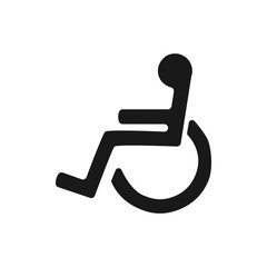 Disabled wheelchair icon. Disable symbol logo, isolated on white background