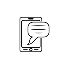 smartphone icon. Element of popular phone icon. Premium quality graphic design. Signs, symbols collection icon for websites,