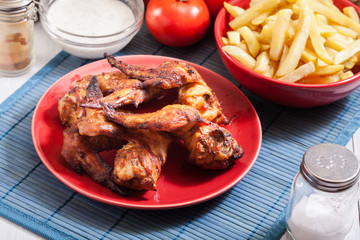 Tasty baked chicken wings