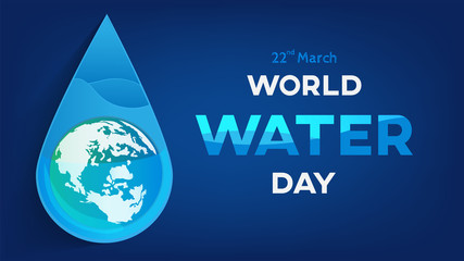 world water day  background  , greeting card or poster for campaign save water
