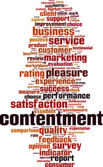 Contentment word cloud