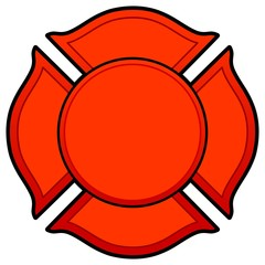 Firefighter Logo - A vector cartoon illustration of a Firefighter Logo concept.