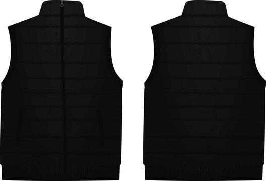 Black vest. vector illustration