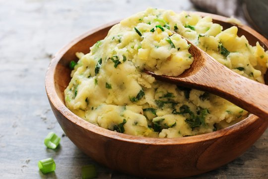 Homemade Colcannon / Irish Mashed Potatoes St Patrick day food