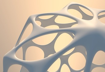 3d Abstract Architectural Futuristic Shape