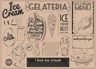 Ice Cream Placemat Craft Paper