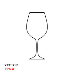 wine glass. vector illustration