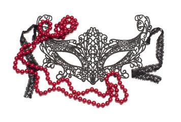 Venetian carnival mask of lace